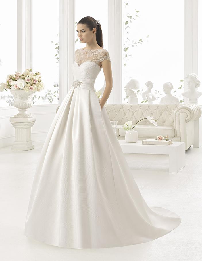 vestido clasico corte costura