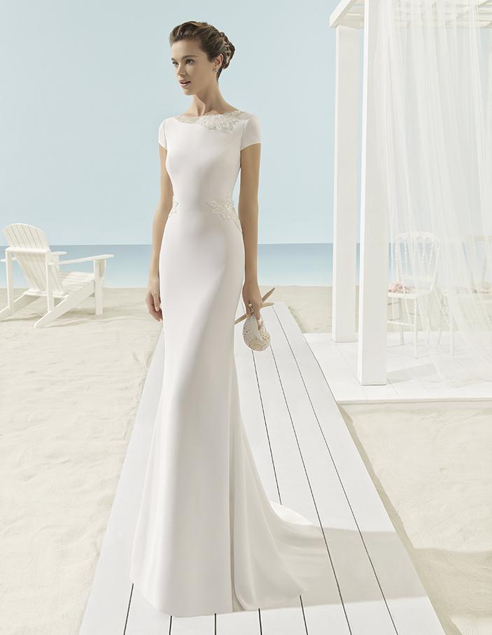 traje novia crepe