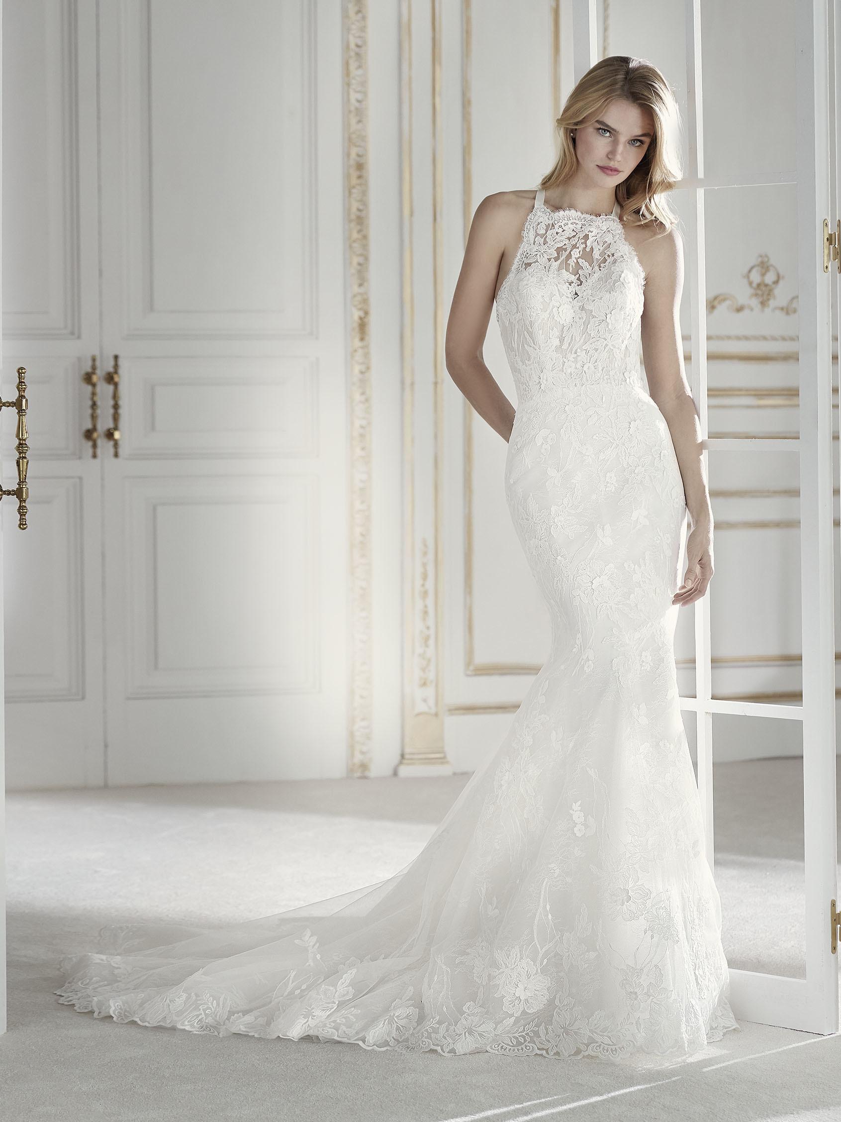 Imagenes de vestidos de novia cuello halter