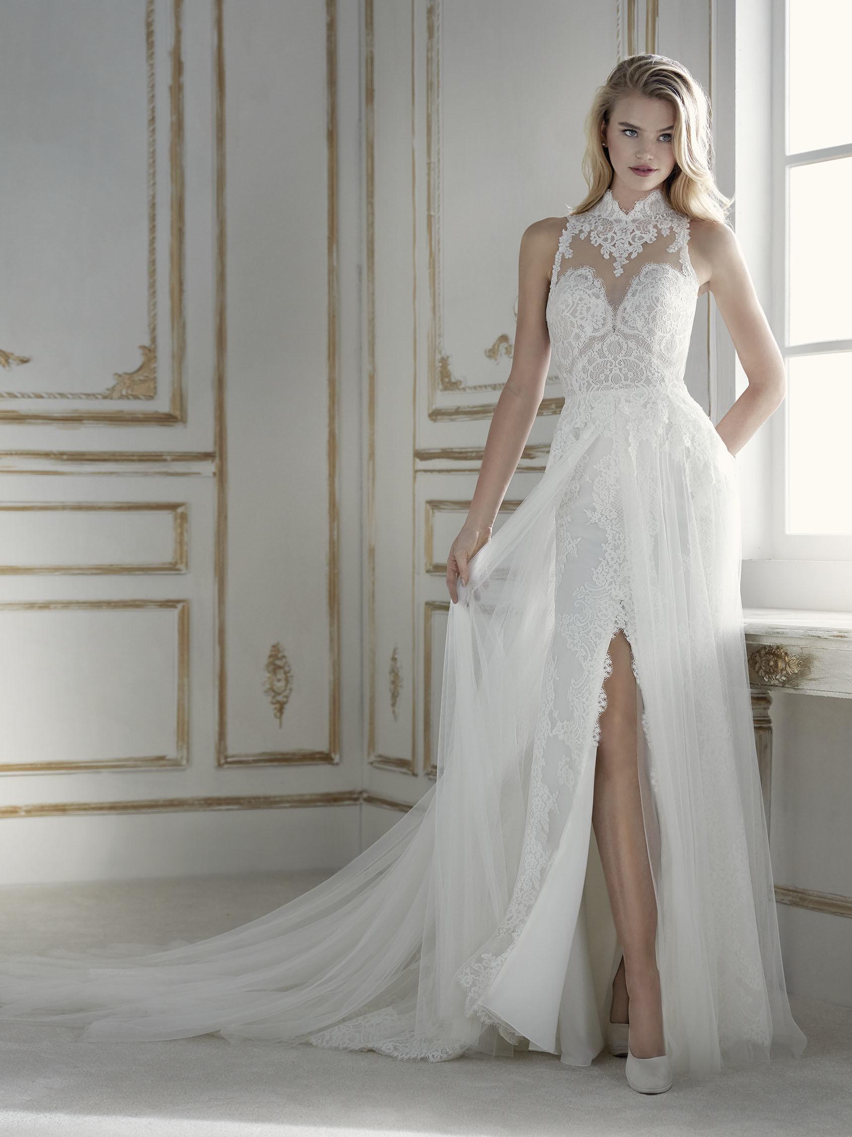 vestido novia abertura en falda
