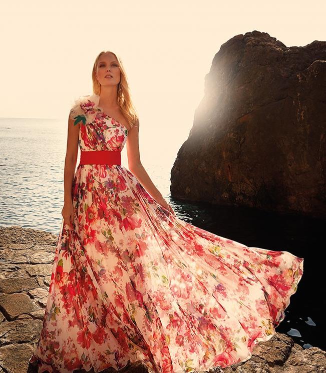 vestido largo estampado de maría lago