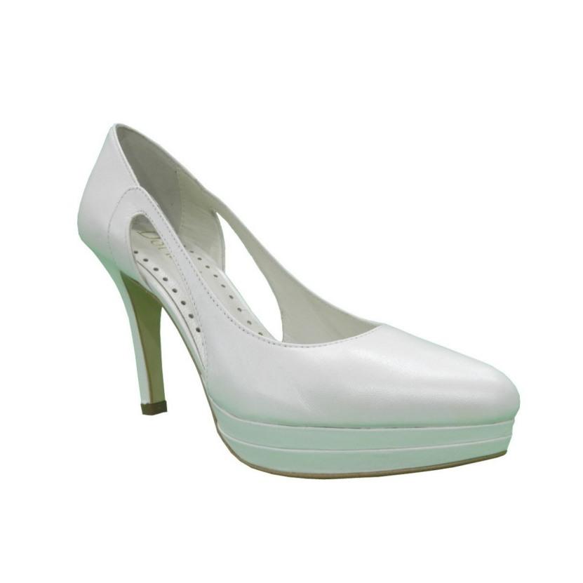zapatos de novia cerrados de piel