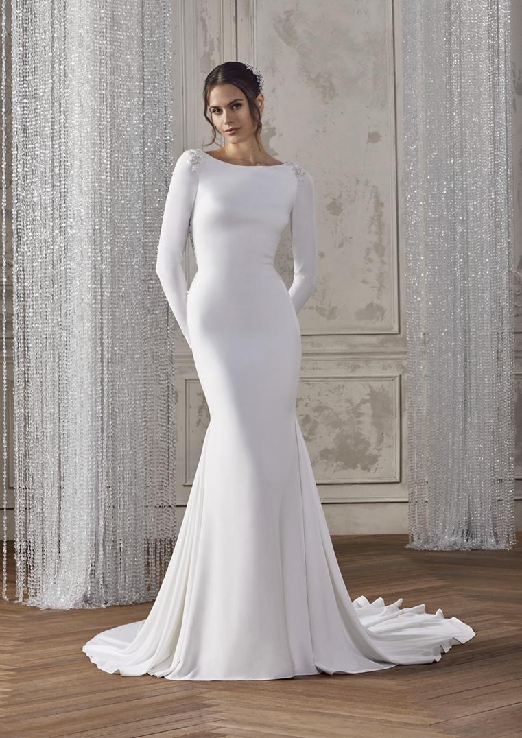 vestido de novia crep