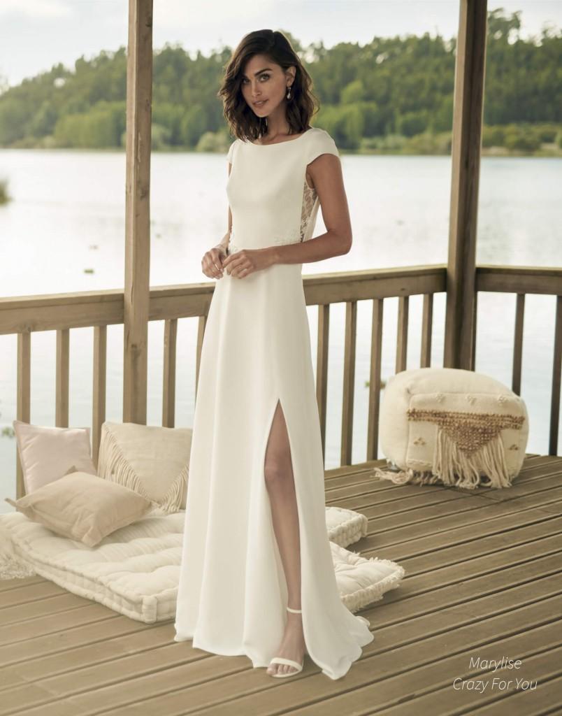 vestido de novia corte en falda