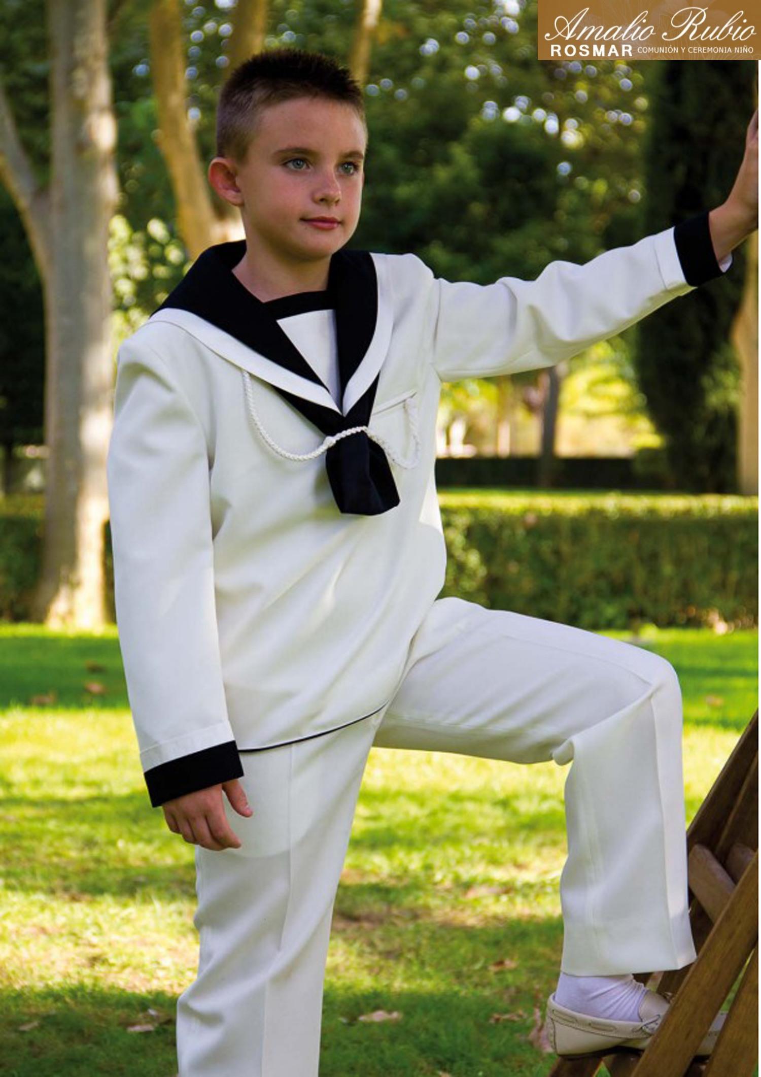traje comunión marinero con pito