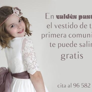 En Valdés Pastor, tu vestido o traje de comunión te puede salir gratis