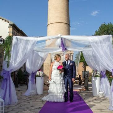 La romántica boda de Trini