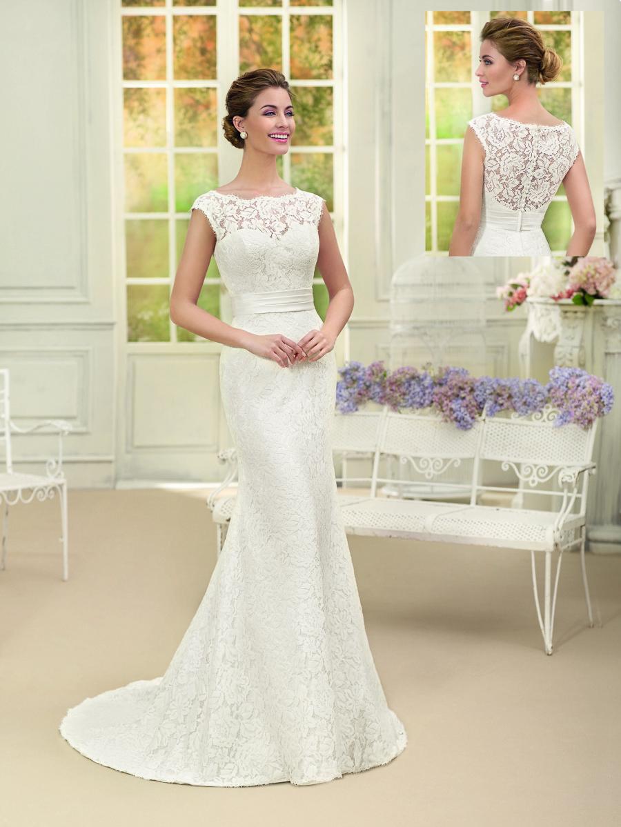 vestido boda corte recto
