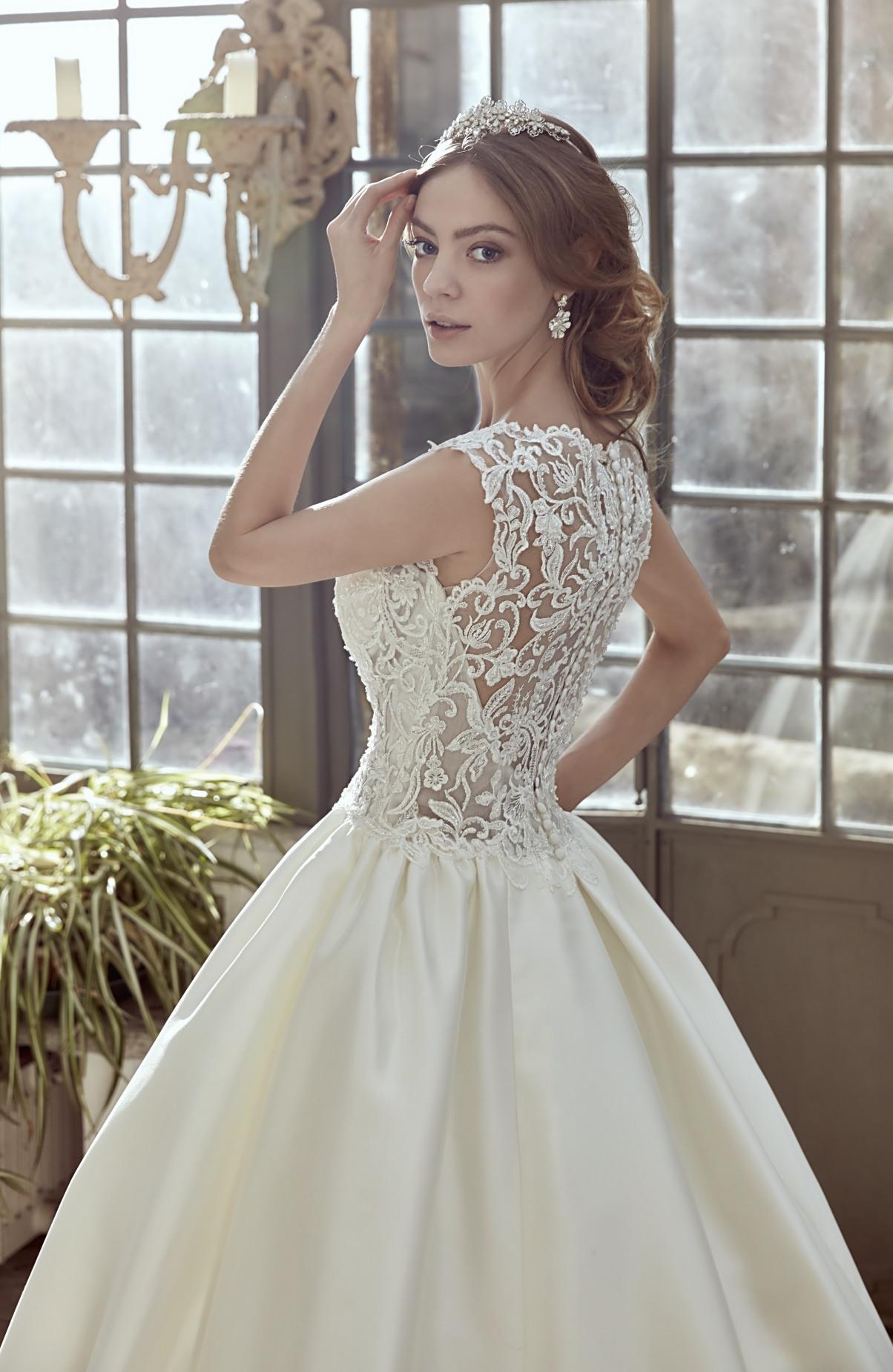 espalde vestido novia