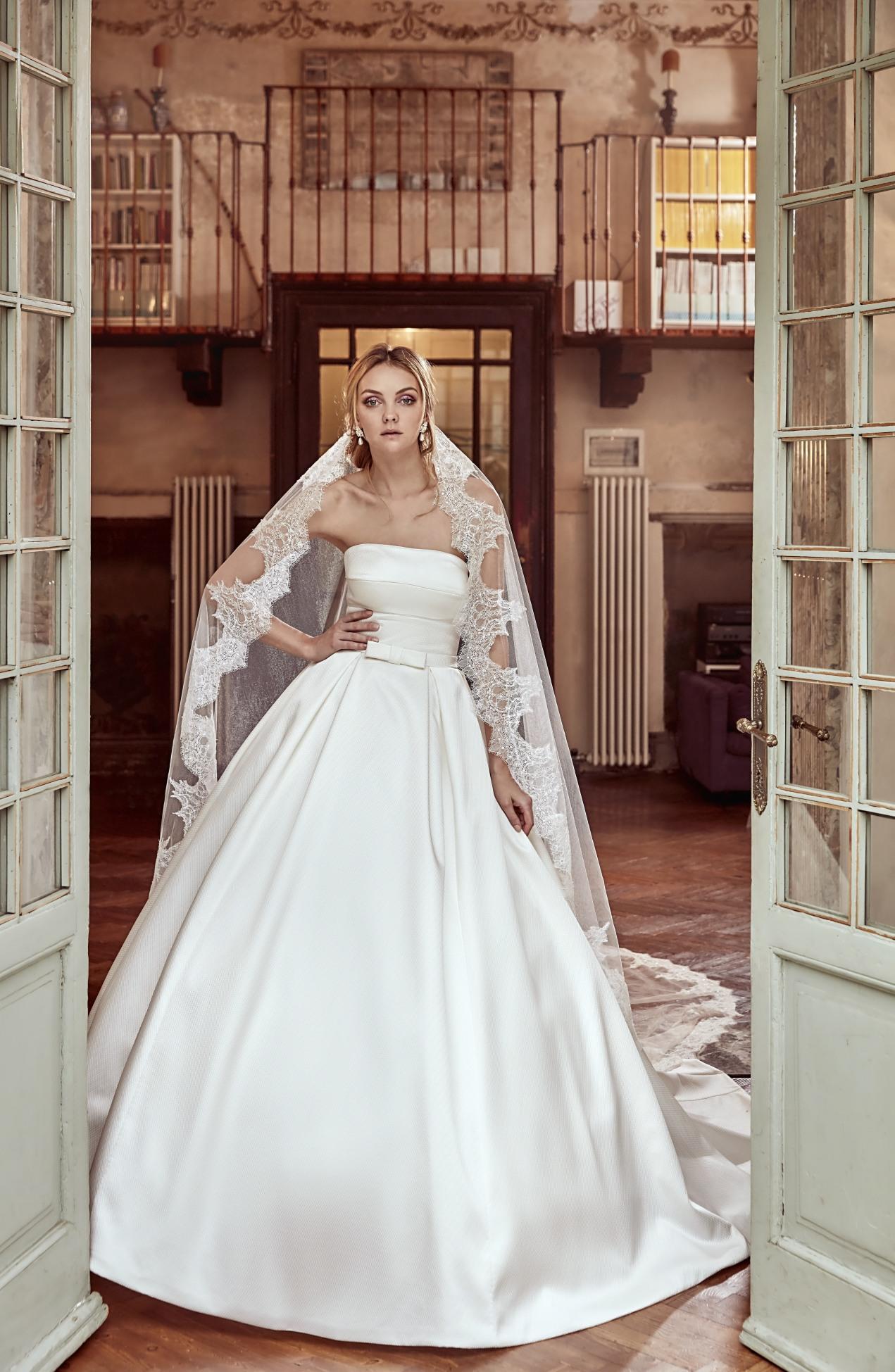 vestido novia tablas y lazo