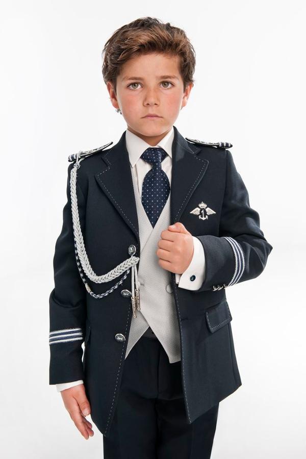 traje almirante marino con solapa pespunteada comunión