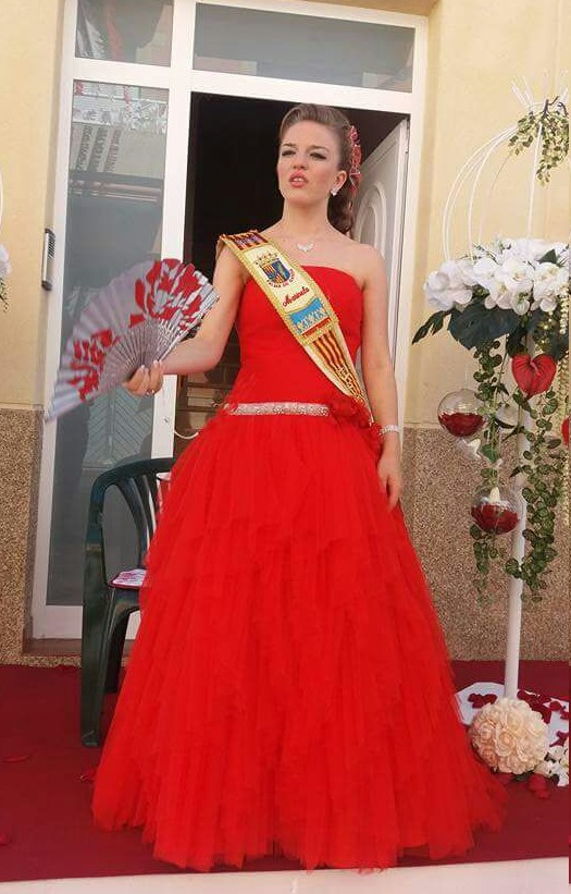 Vestido rojo festera