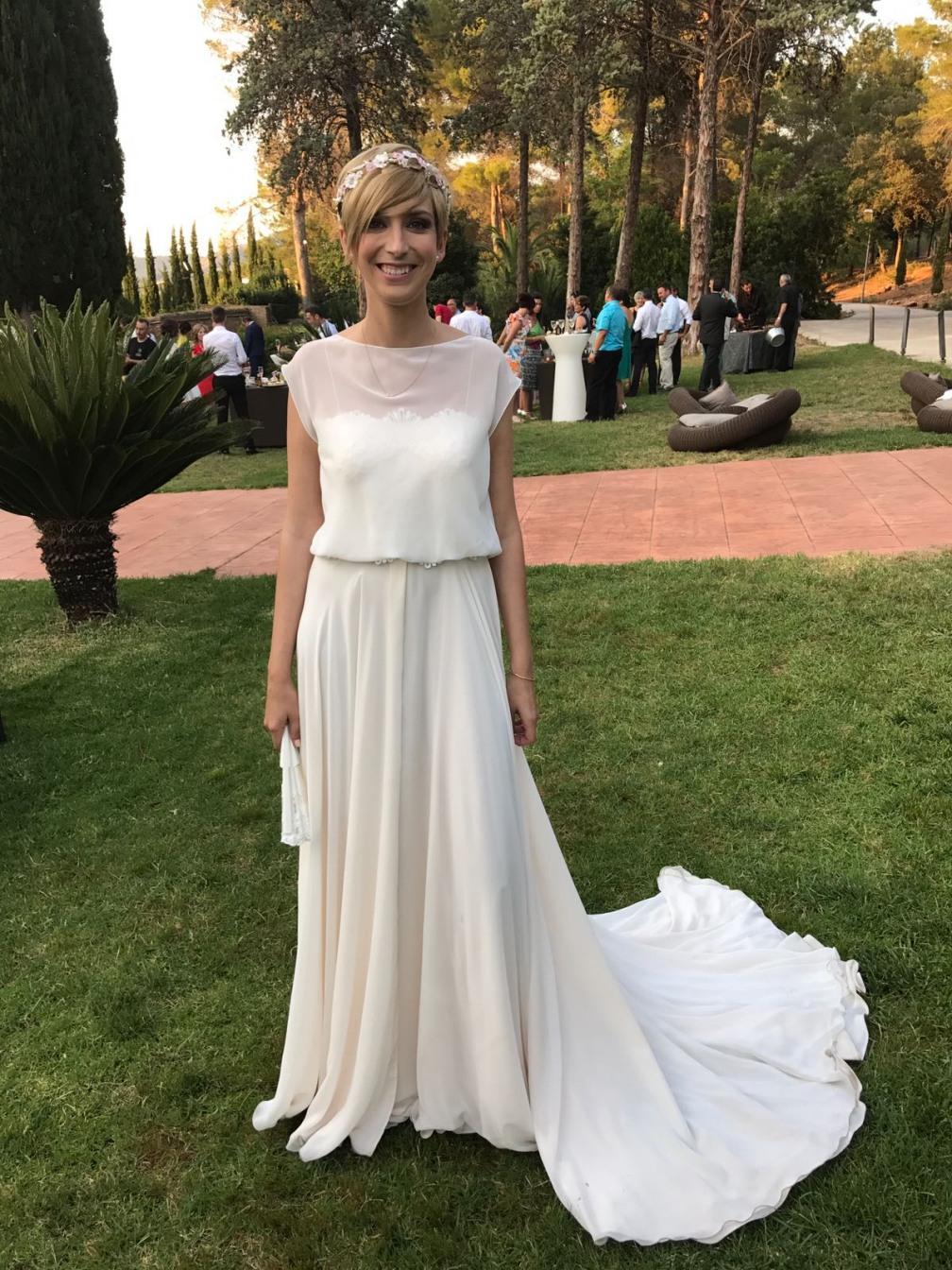 Boda de isabel con vestido de novia de Raimon Bundo de Valdés Pastor