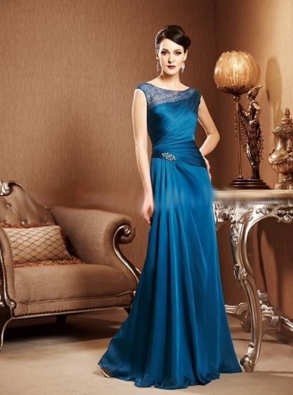 vestido fiesta largo azul