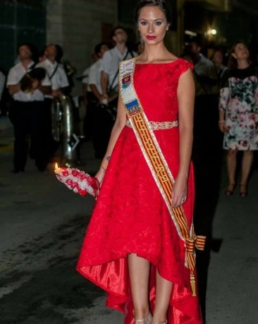 Vestido festera rojo