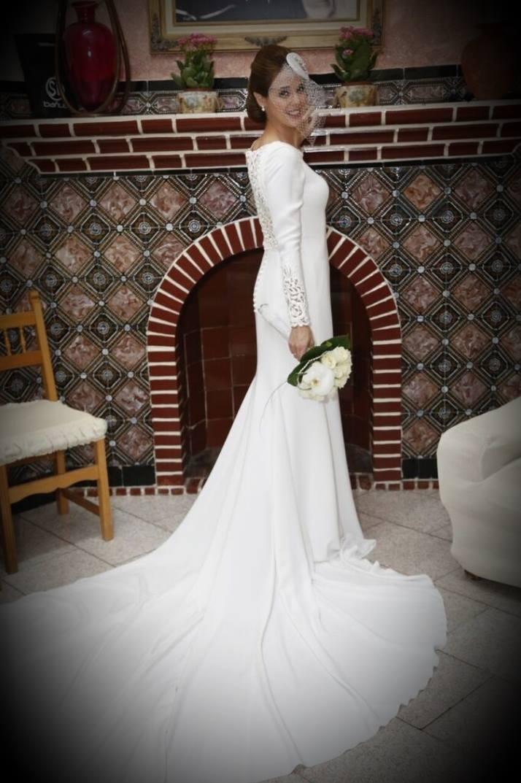 inma con el vestido de novia HAILEY de La Sposa