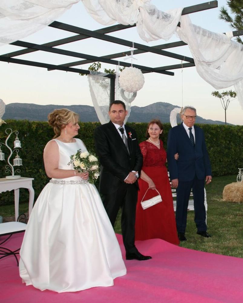 vestido de novia de mikado hecho a medida