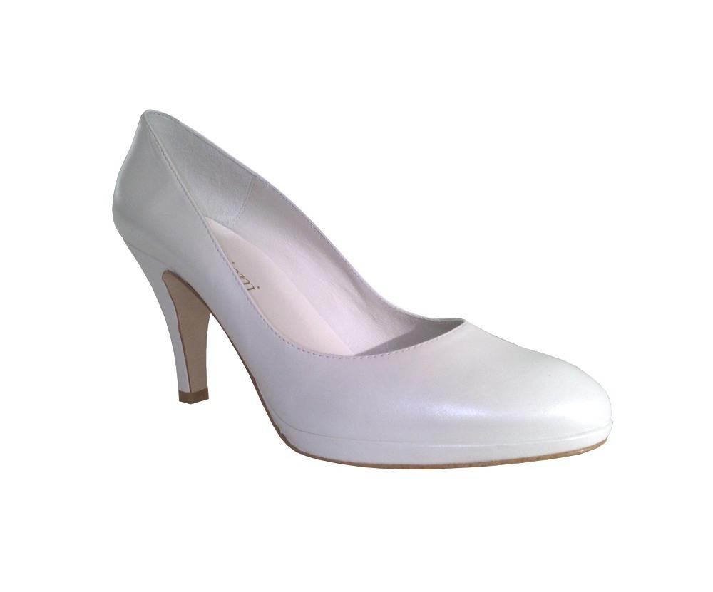 zapatos de novia cerrados en piel Doriani