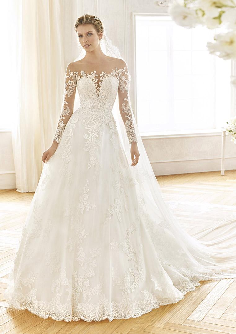 vestido de novia manga larga