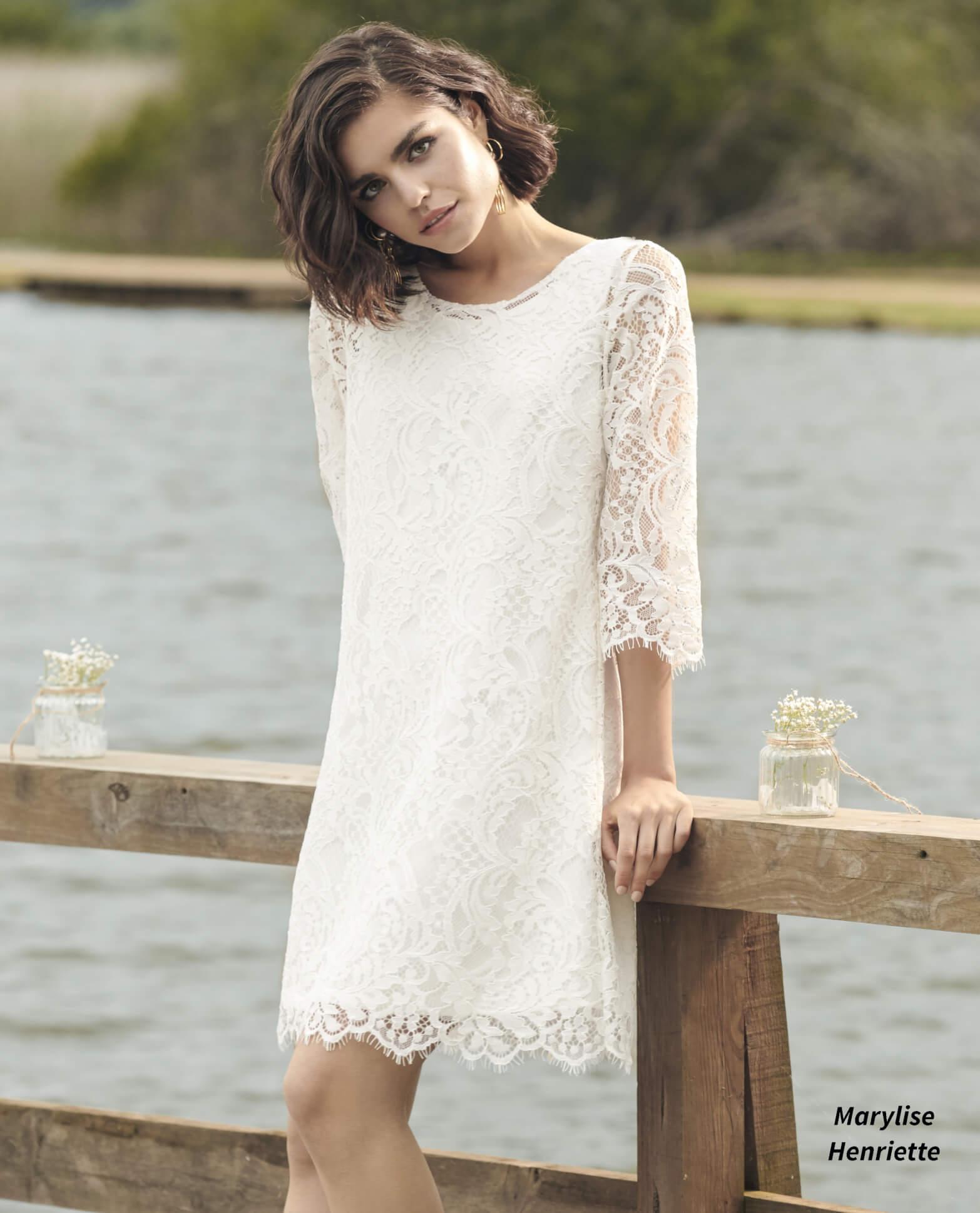 vestido de novia corto Henriette Marylise