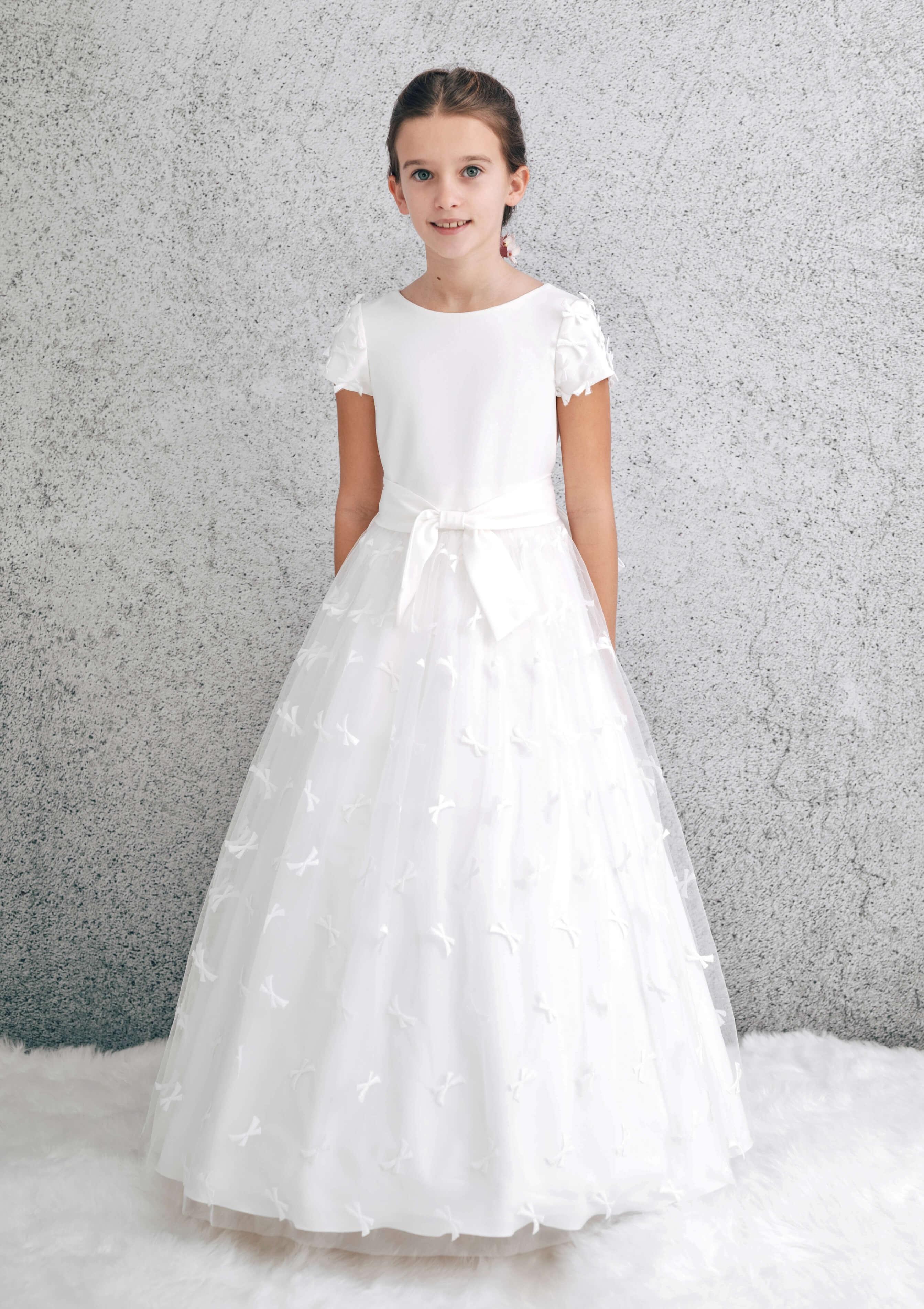 vestido de comunión modelo 1843 lazos