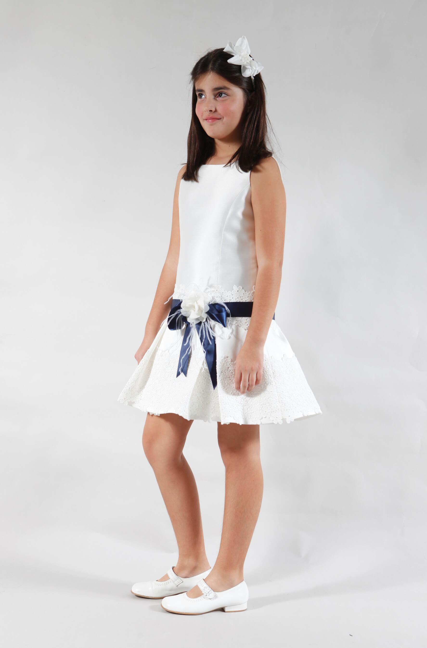 Vestido de comunión corto