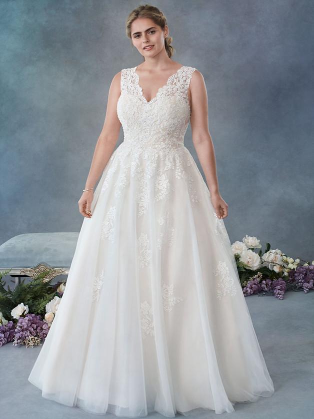 vestido de novia colección tallas grandes