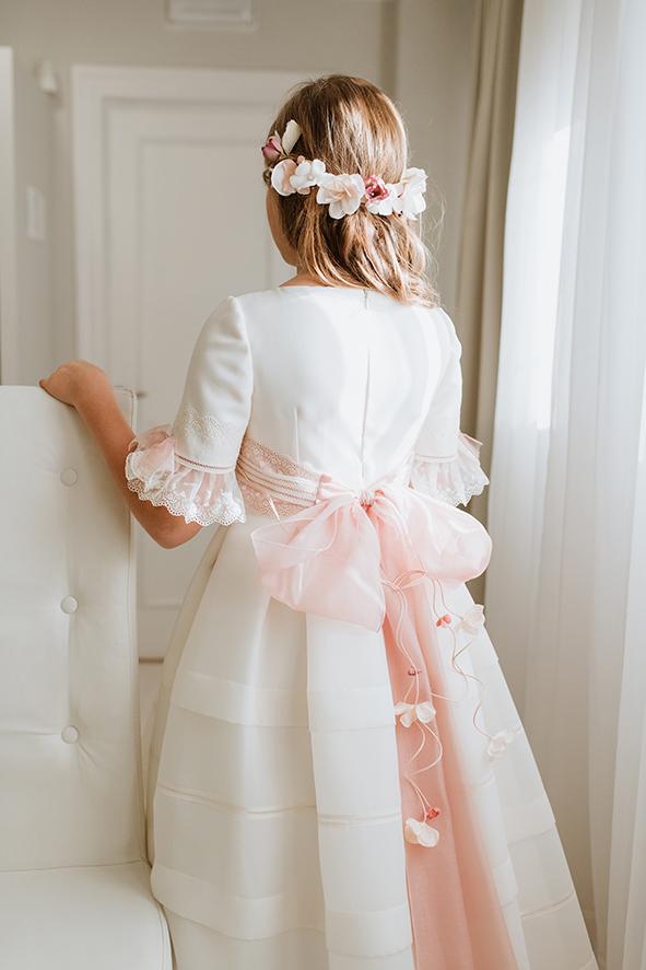 vestido de esterilla, clásico con talle alto