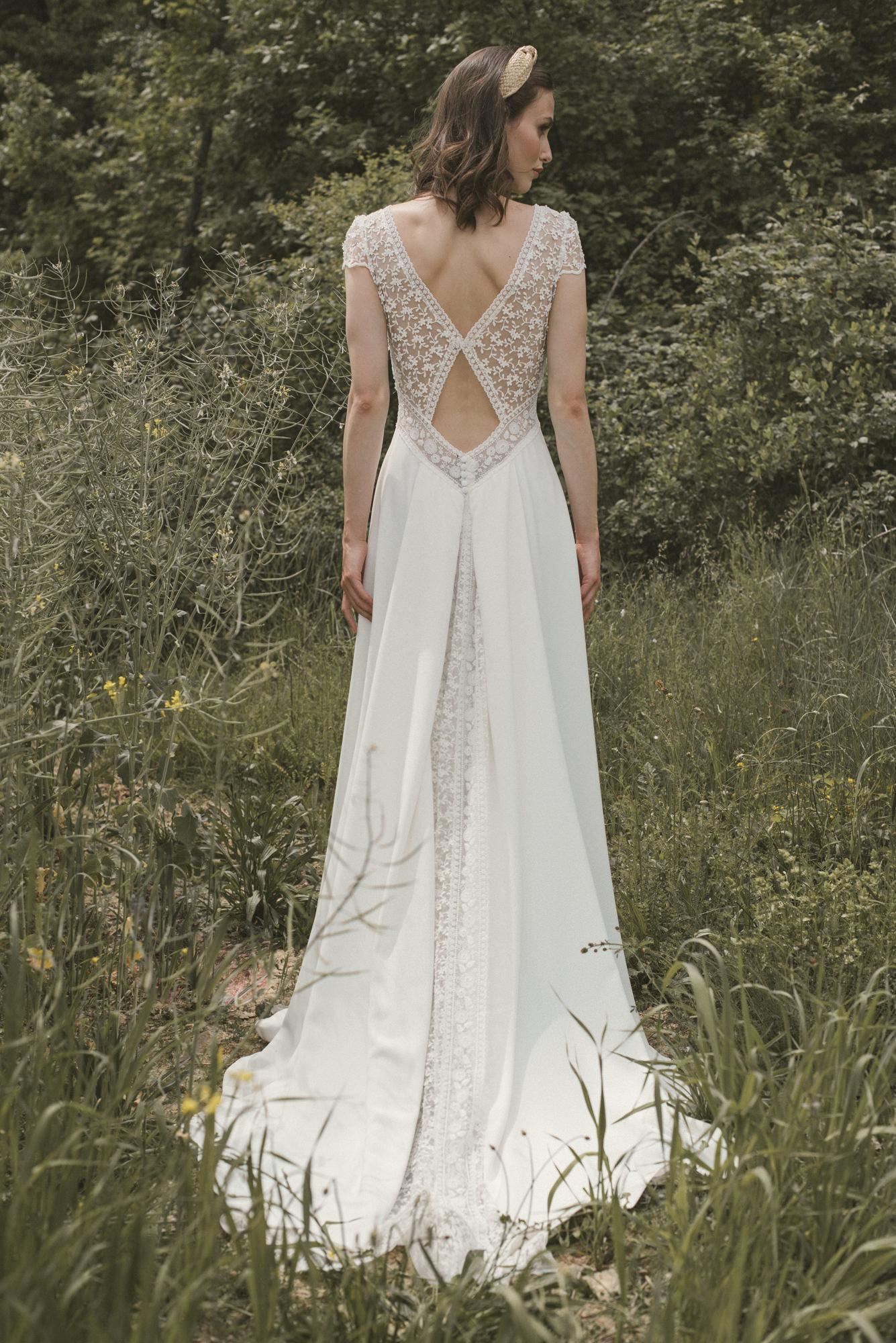 Espalda vestido novia Ada de Novia D´Art